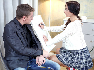 Christy gets her tricky old teacher to..