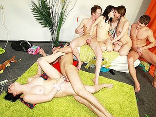 Naughty games leading to gangbang