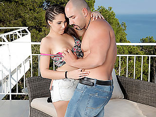Latina bombshell Nikki moans loud..