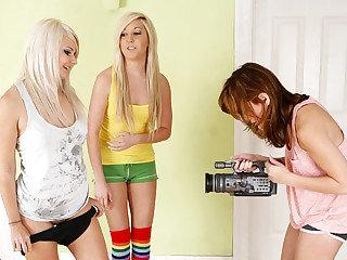 Three step sister Sasha, Tosh and..